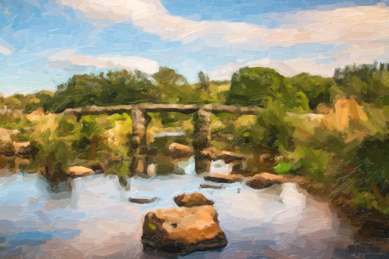 Clapper Bridge in oil