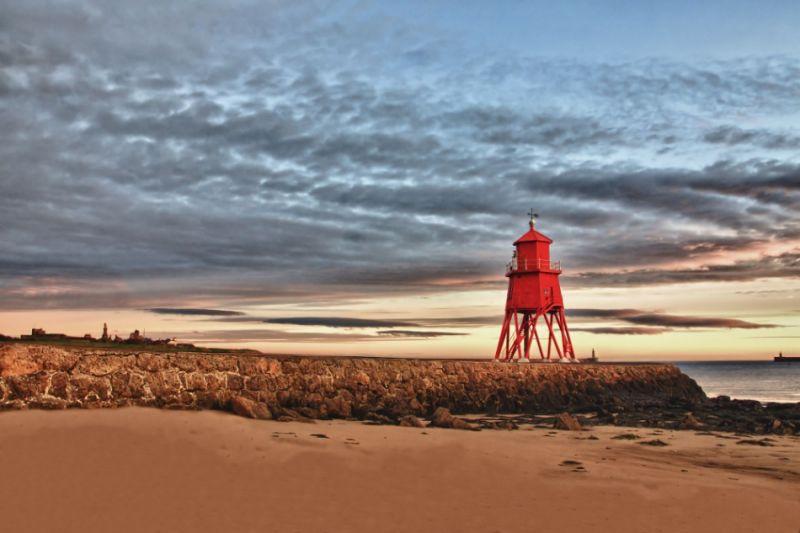 South Shields Groyne from beach