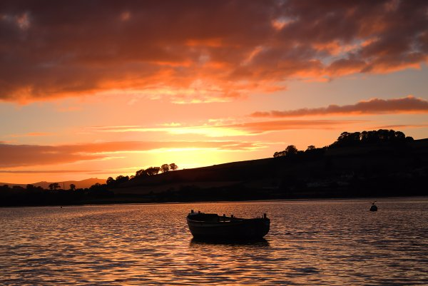 Sunset over the Teign 1