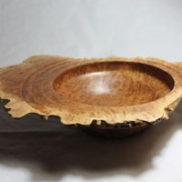 141018 Ripple Fruited Mallee Natural Edge Bowl