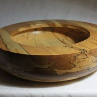 141020 Spalted Beech Rimmed Bowl