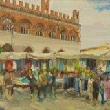 22. 'Mercato in Piazza Cavalli - Piacenza' 40x160cm