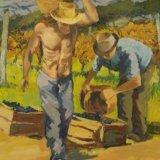 26a.'Vine harvesting' 50x69cm - SOLD £100