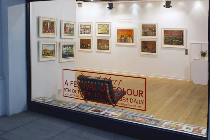 Example of applied window vinyl (side window onto the Royal Opera Arcade)