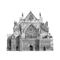 """Exeter Cathedral"" - Pencil on paper, 86 x 86cm"