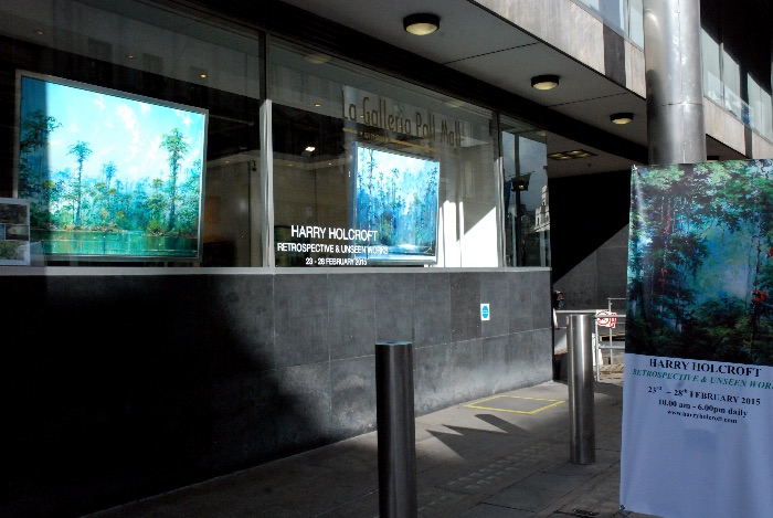 Example of applied window vinyl and use of window hanging system (street window onto Pall Mall)