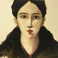 """""""Portrait"""" - Oil on paper, 30 x 40cm"""