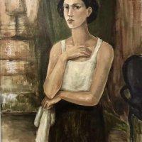 """Handkerchief"" - Oil on canvas, 80 x 110cm"