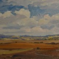 29. 'Val D'orcia in Autunno' 30x80cm