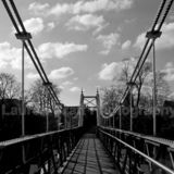 Along Teddington Footbridge