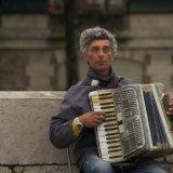 Elderly Street Busker