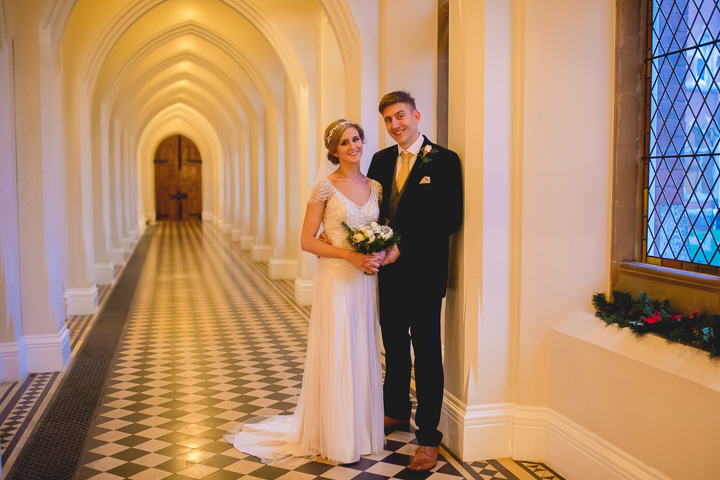 Stanbrook Abbey wedding photography. The cloisters of Stanbrook Abbey always make for amazing wedding photos!