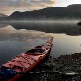 Canoe and Mist, Derwentwater.