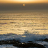 Godrevy Beach at Sunset, Cornwall.