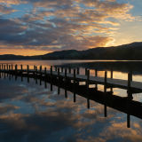 Sunset by Coniston Jetty.