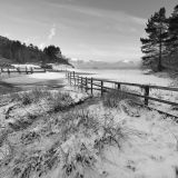 Snowy Morning by Derwentwater.