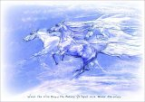 When the wind blew the horses galloped and blew the wind
