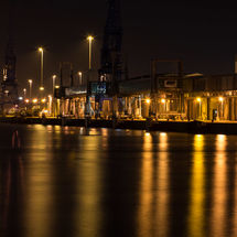 Southampton Docks in the Dark