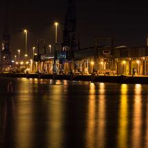Southampton Docks in the Dark