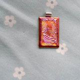 Dichroic Glass Pendant; Flowerburst