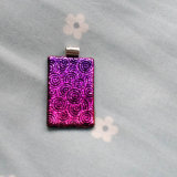 Dichroic Glass Pendant; Pink & Swirley