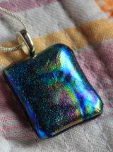 Dichroic Glass Pendant; Bonkers