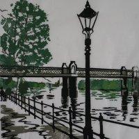 Kew Railway Bridge Grey Japanese Paper