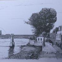 Kew Railway Bridge (ink)