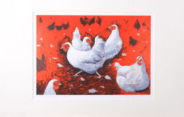 'The Hen Party' Mounted Print