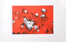 'Rude Passion of Red' Mounted Print