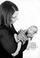 A gorgeous mothers & son newborn shot
