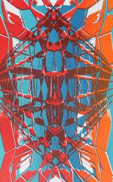 London Bruatlist architectural screen print