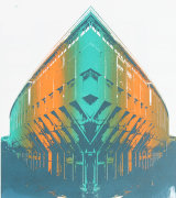 London Brutalist architectural screen print