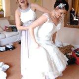 bridesmaid having a giggle