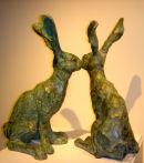 Hares Bronze Resin