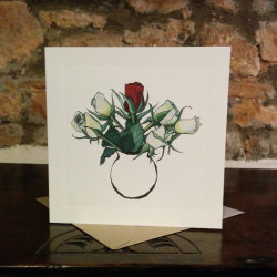 Red Rose Greetings Card