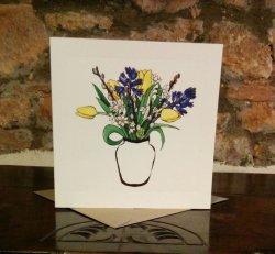 Spring Flowers Greetings Card