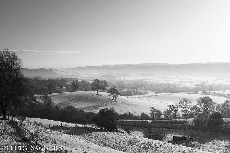 Ampleforth valley in snow, January 2013
