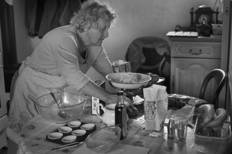 Betty's baking day, Ampleforth, May 2014. 2nd ROUND TAYLOR WESSING PHOTOGRAPHIC PORTRAIT PRIZE, National Portrait Gallery, London.