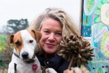 Lesley Seeger and Pablo- December 2014