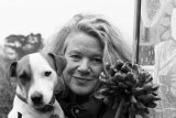 Lesley Seeger and Pablo B&W- December 2014