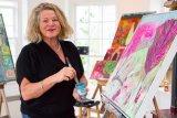 Lesley painting III- December 2014