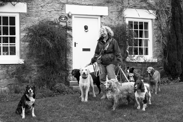 Tina Connor the dog walker, Ampleforth, February 2016
