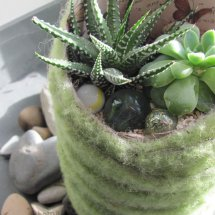 felted planter