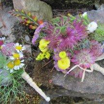 garden flower corsage
