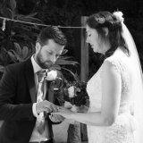 Intimate quarry wedding