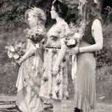 Summer bride and bridesmaids