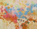Midsummer Garden, acrylic and oil paints