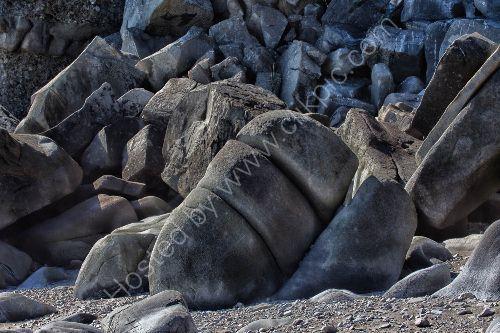 Rock formations on Duck Island Alaska