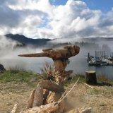 Chain Saw art of aSea Otter - Seldovia